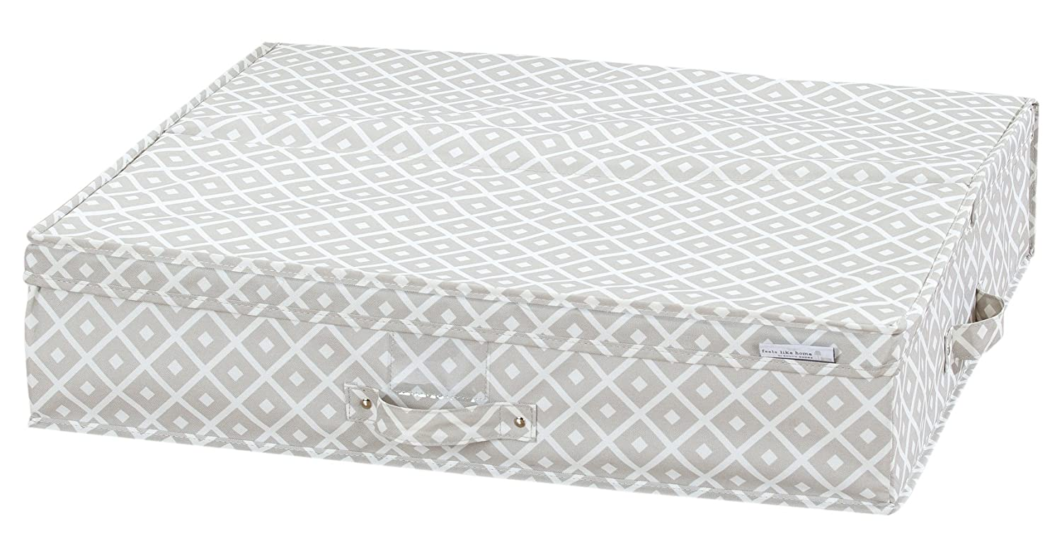 South Shore Furniture Storit Canvas Underbed Storage Box with Pattern, Diamonds 100041