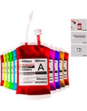 Live Blood of Theme Parties Blood Bag Drink Container Set of 10 IV Bags 11.5 Fl Oz Halloween Party Cups Gag Gift