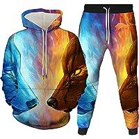 HoneyStore Unisex Animal Printed Tracksuits Sweatshirts Joggers Sweatpants Set