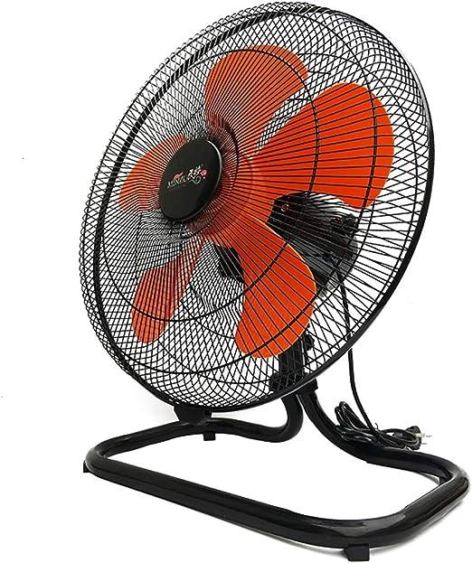 Ventilador de Piso Industrial Grande de 18 Pulgadas (45 cm) Alta Velocidad Sacudiendo la Cabeza Circulador de Aire Ventilador de Piso Resistente (Cromo): Amazon.es: Hogar