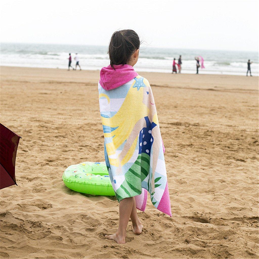 Gogokids Teli Mare Asciugamani Sport per Bambini Ragazzi Ragazze Asciugamano da Bagno con Cappuccio Bambine 100/% Cotone Accappatoio Nuoto Cartone Animato Spiaggia Asciugamano Incappucciato