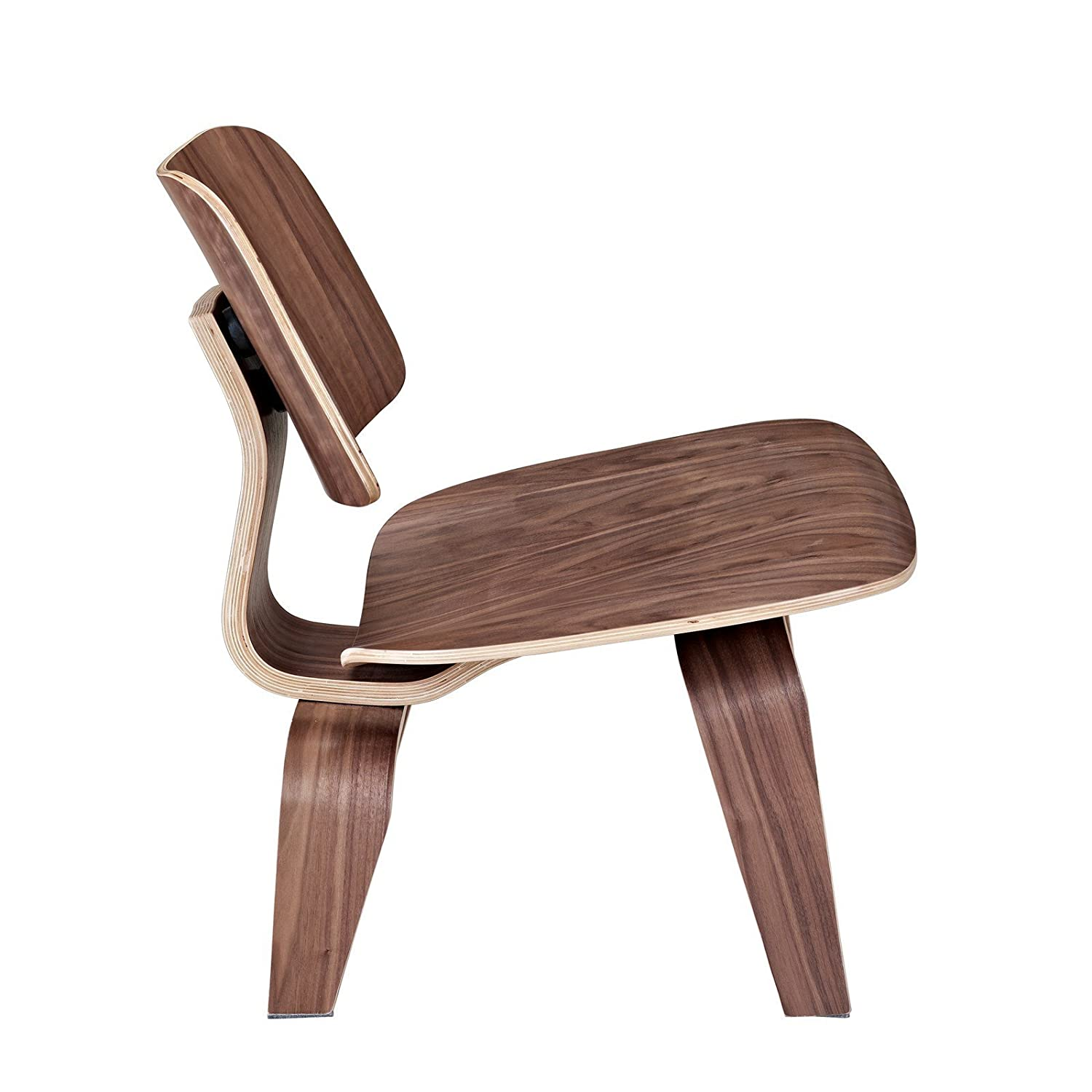 Herman miller plywood lounge chair - Lexmod Fathom Plywood Lounge Chair In Walnut Amazon Ca Home Kitchen
