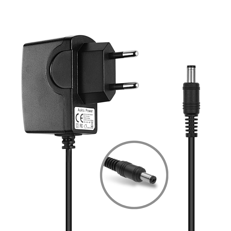 Aukru 7.5V Ladegerät Netzteil für Babyphone Philips Avent Baby-Einheit SCD510/525 Weiß EU-7.5V500mA_5WHT