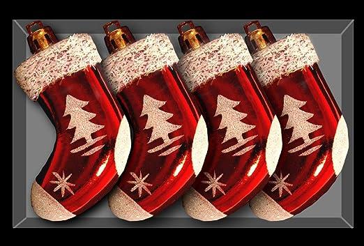 TOYLAND Pack de 4 Adornos navideños de Media - Decoraciones ...