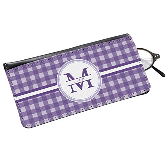 Gingham Print Genuine Leather Eyeglass Case (Personalized) at Amazon ... b54e84a52d4f9