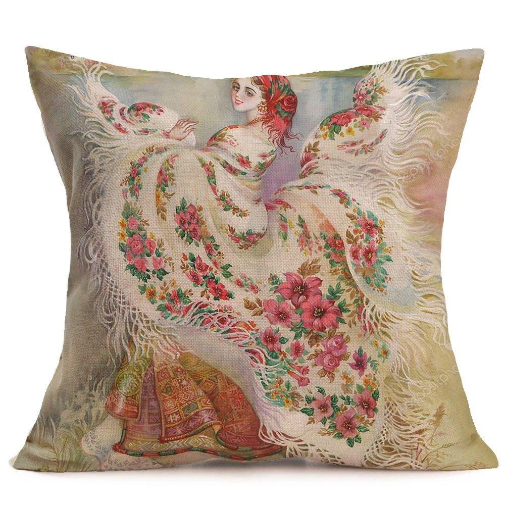 Sunnywill Taies doreiller en Lin de No/ël Joyeux Sofa Coussin D/écoration de la Maison Taie doreiller