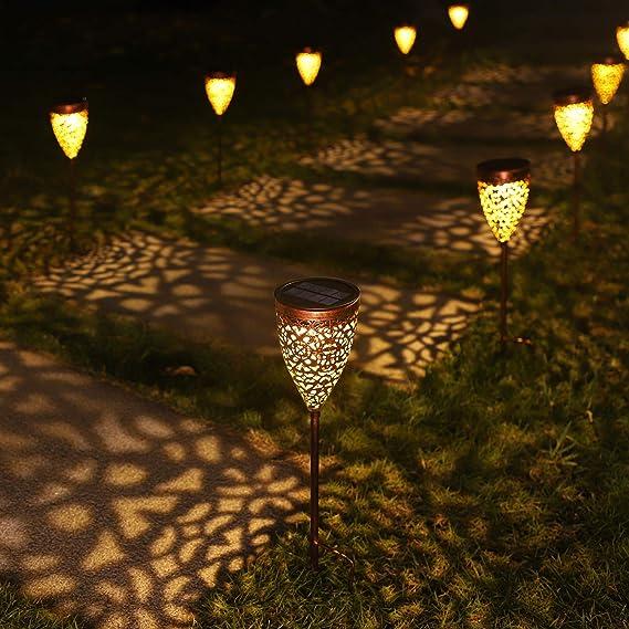 Garten Fackeln Solar Garten Licht Solar Fackel Solarlampen f/ür Au/ßen Solar Flammenlicht Gartenleuchten 2 St/ück Solarleuchte mit Realistischen Flammen Automatische EIN//Aus und IP65 Wasserdicht