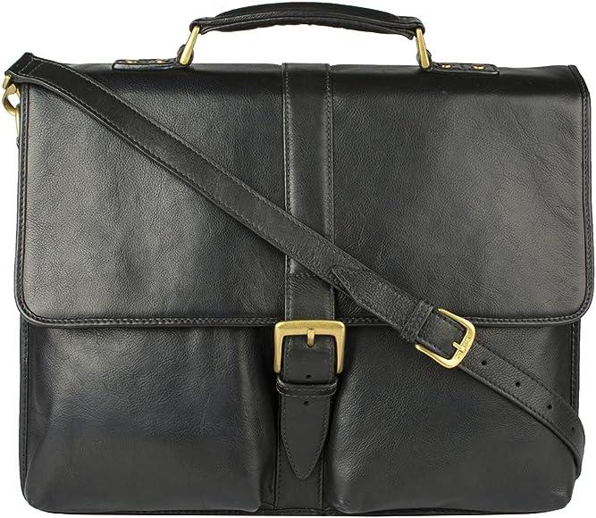 Hidesign Aberdeen Double Gusset Briefcase Messenger Bag