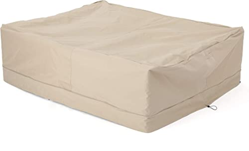 Christopher Knight Home Shield Outdoor Waterproof Fabric Chat Set Cover, Beige