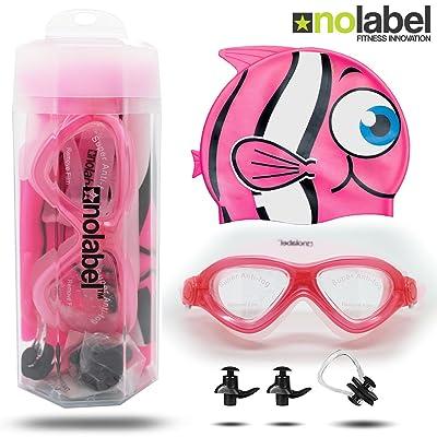 Lunettes de Natation Enfant   Les lunettes de natation Epic Série Junior pour enfants sont étanches et protègent contre les UV   Système réglable à ajustement rapide de No Label