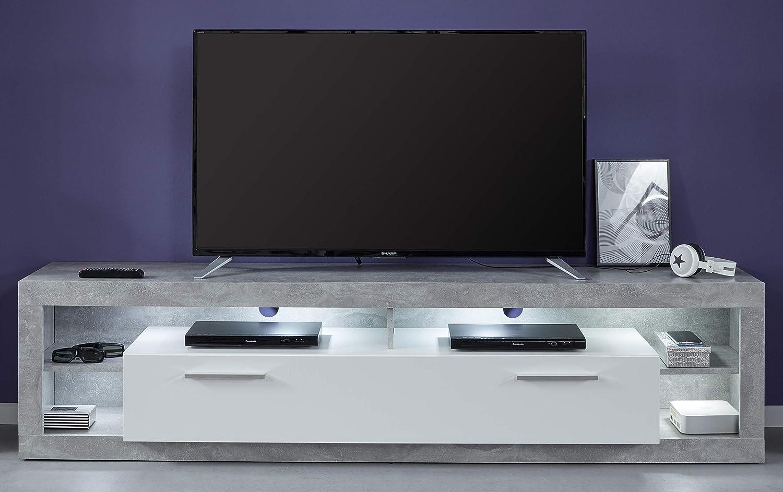 Trendteam 182685235 Mueble, Blanco, 200 x 48 x 210.5 cm: Amazon.es: Hogar