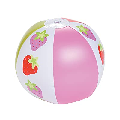 "Fun Express - Strawberry Party Beach Balls (14"") for Birthday - Toys - Inflates - Beach Balls - Birthday - 12 Pieces: Sports & Outdoors"