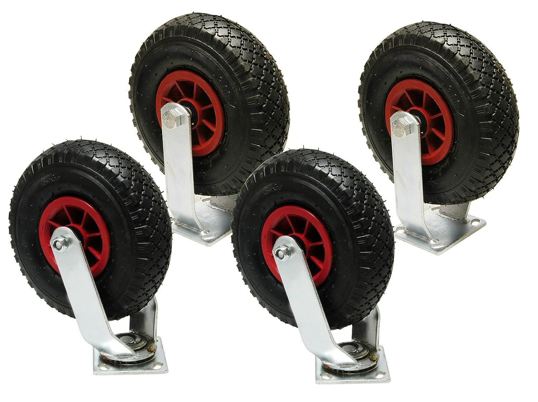 DKB Lenkrolle Bockrolle Bockrolle oder im Set mit Luft Rad /Ø 260 mm und Metallfelge