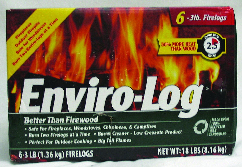 Enviro-Log Firelog - 3 lb - 6 Pack - 1950364: Amazon co uk