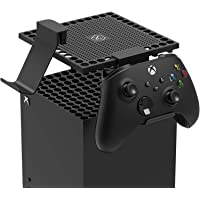 Dust Cover for Xbox Series X Console with 2 Controller/Headset Mount, Dust Mesh Cooler Filter Cover Gaming Controller…
