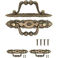 FUXXER® - 2 x antieke meubelgrepen inklapbaar, lade-handgrepen, keukenhandgrepen, ijzeren handgrepen, kisten, kasten…