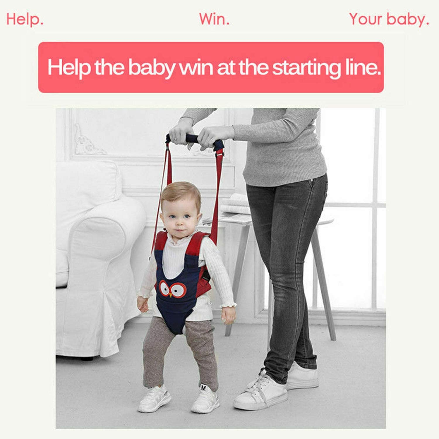 Breathable Safety Stand Hand Held Baby Walking Assistant Walking Helper Pantaya Baby Walking Harness Handheld Baby Walker