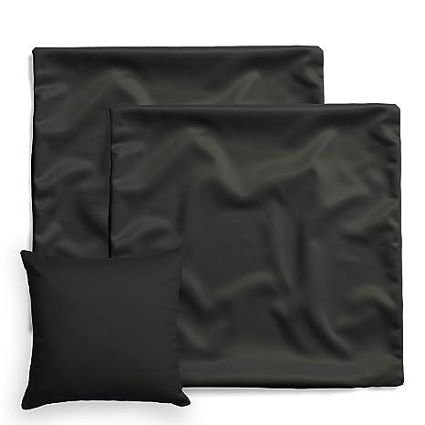 amato Home - Pack de 2 fundas de cojín / almohada cuadrada - Decoración para cama y sofá - 100% algodón - Apto para dormitorio infantil, algodón, ...