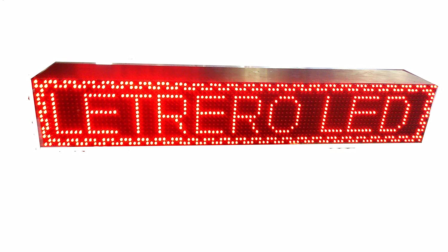 PANTALLA LED PROGRAMABLE PARA EXTERIOR E INTERIOR/LETRERO LUMINOSO/CARTEL/ROTULO LED (96 * 16 cm, ROJO) PROGRAMMABLE LED SIGN PROGRAMMABLE LED DISPLAY