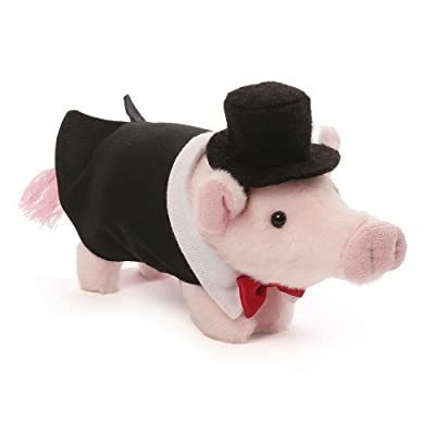 "Gund Formal Pop Mini Pig Stuffed Animal Plush, 6"": Toys & Games"