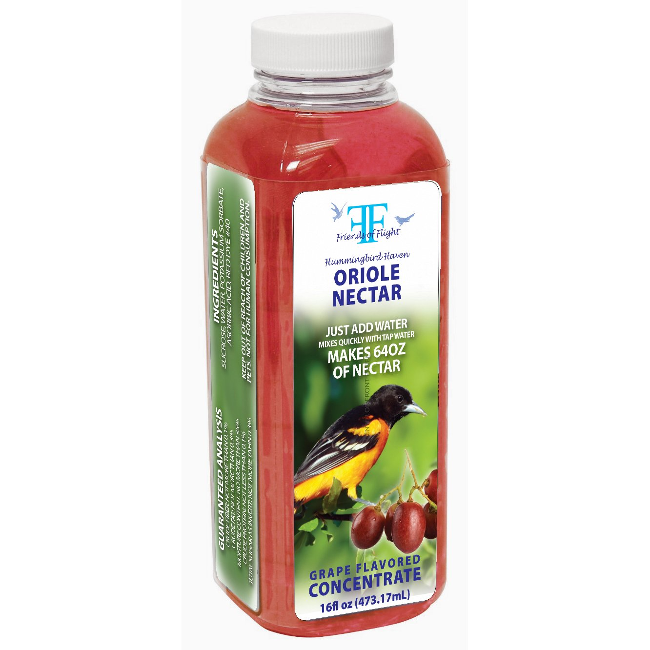 Friends Of Flight Haven 028999 Liquid Oriole Nectar Concentrate, Grape, 16-Ounce