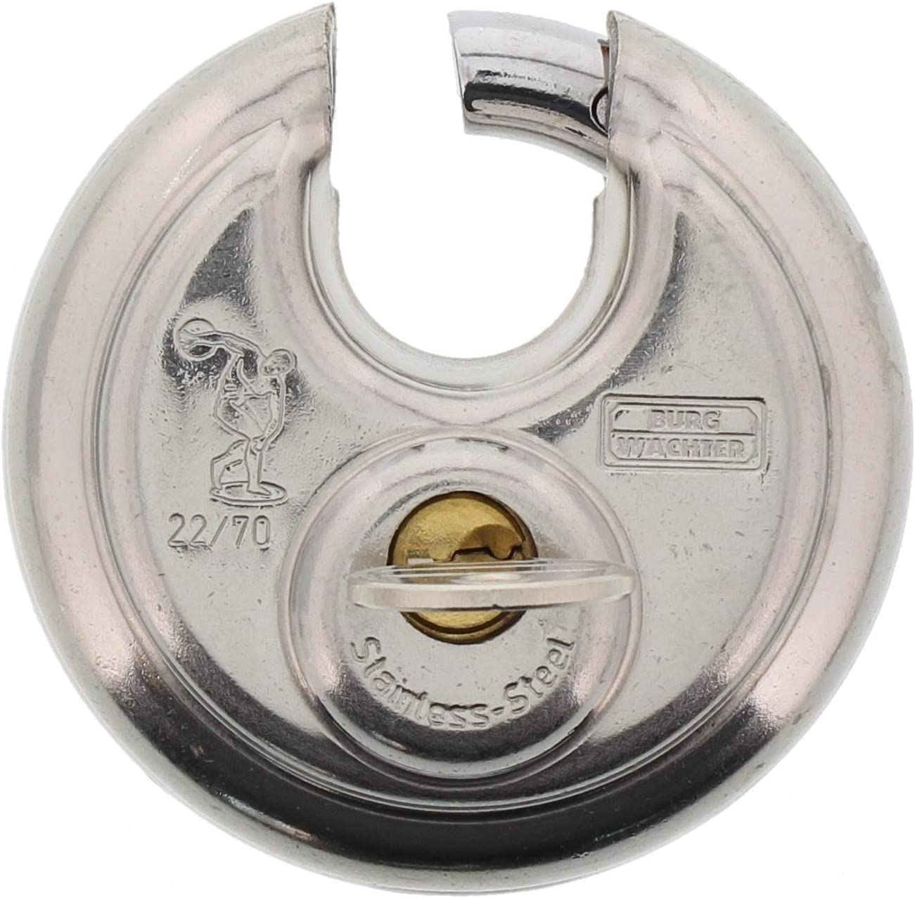 9 mm DEpaisseur dEtrier Circle 21 70 SB 2 Cl/és Incluses Protection Anti-Pincement BURG-W/ÄCHTER Cadenas