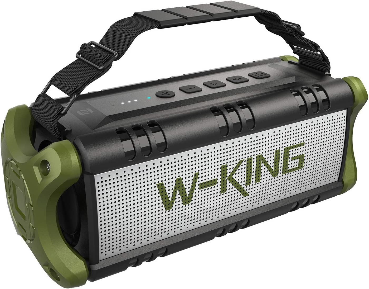 W-KING 50W Wireless Bluetooth Speakers & 8000mAh Battery Power Bank, Outdoor Portable Waterproof TWS Speaker, Powerful Rich Bass Loud Clear Stereo Sound for Home/Party/Outdoor/Travel