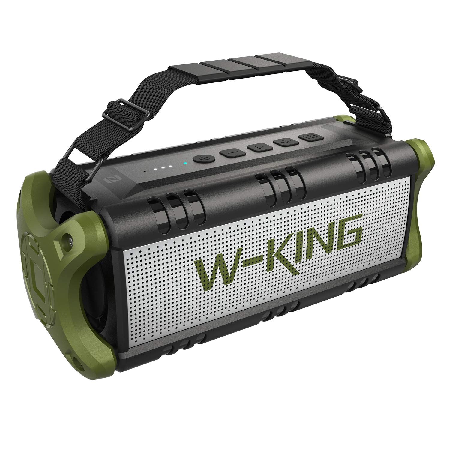 W-KING 50W Wireless Bluetooth Speakers & 8000mAh Battery Power Bank, Outdoor Portable Waterproof TWS Speaker, Powerful Rich Bass Loud Clear Stereo Sound for Home/Party/Outdoor/Travel by W-KING