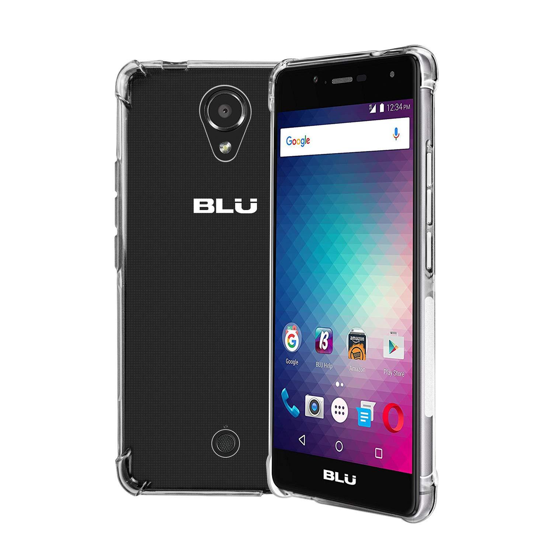ykooe リキッドクリスタル BLU R1 HDケース スリム保護 プレミアムクラリティ BLU R1 HD用 - クリスタルクリア クリア  BLU R1 HD Clear B07GJJ9QQR
