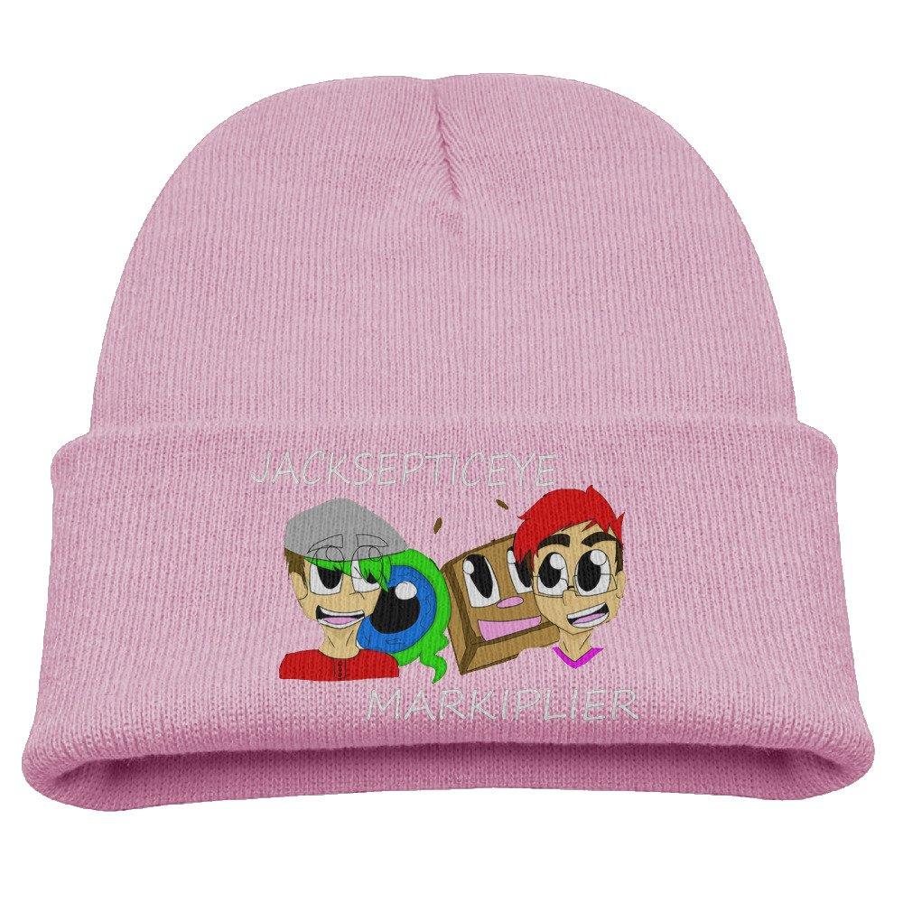 Markiplier And Jacksepticeye Warm Winter Hat Knit Beanie Skull Cap Cuff Beanie Hat Winter Hats Kids Larenoto