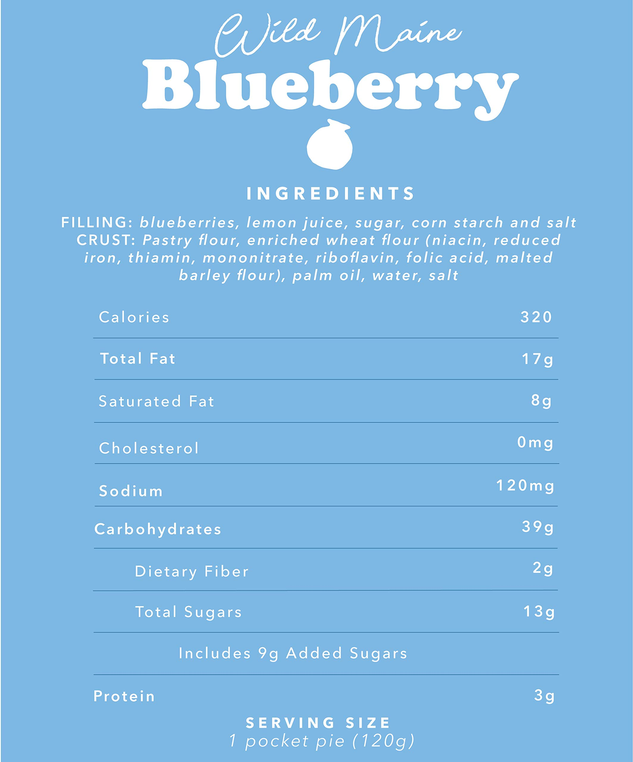 Mamie's 12 Pack Melt-in-Your-Mouth Single Serving Blueberry Pies, Individually Packaged 4.5oz Pocket Pies, Preservative Free, Shipped Frozen and Ready to Bake, Made in USA. by Mamie's Pies (Image #6)