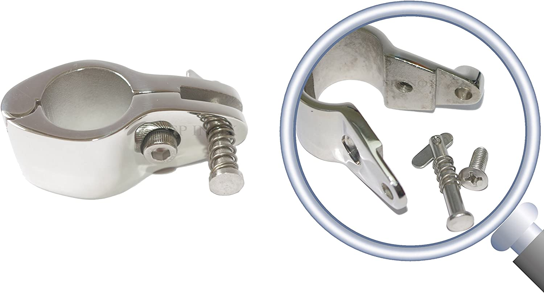 FP INOX Halsband f/ür 30 mm Rohr Edelstahl 316 A4