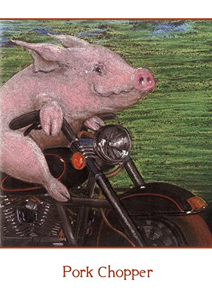 Amazoncom Tree Free Greetings Pork Chopper Birthday Cards 2 Card
