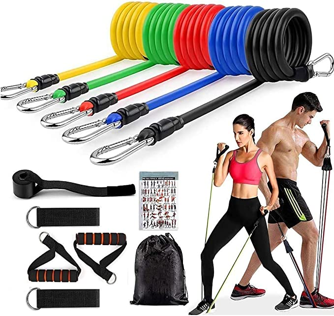 CrossFit AUPCON Resistance Bands Pull up Assist Bands Exercise Loop Band for Body Powerlifting Resistance Training Muscle Toning Yoga Strength Training for Men and Women Stretch Mobility