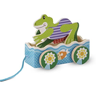 Melissa & Doug FIRST PLAY Friendly Frogs Pull Toy: Toys & Games
