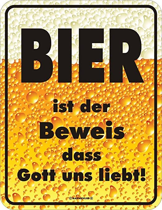 Original sin marco, Cartel de chapa cerveza es la prueba ...
