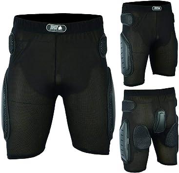 protecci/ón contra impactos color negro Pantalones cortos de protecci/ón para motocicleta cadera y cuerpo