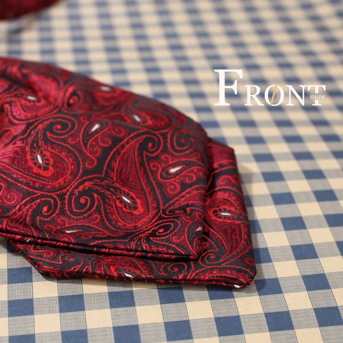 ERB1B07C Business Beautiful Gift Idea Patterned Ascot Best Mens Red Microfiber Perfect Accessories Gift for Wedding By Epoint
