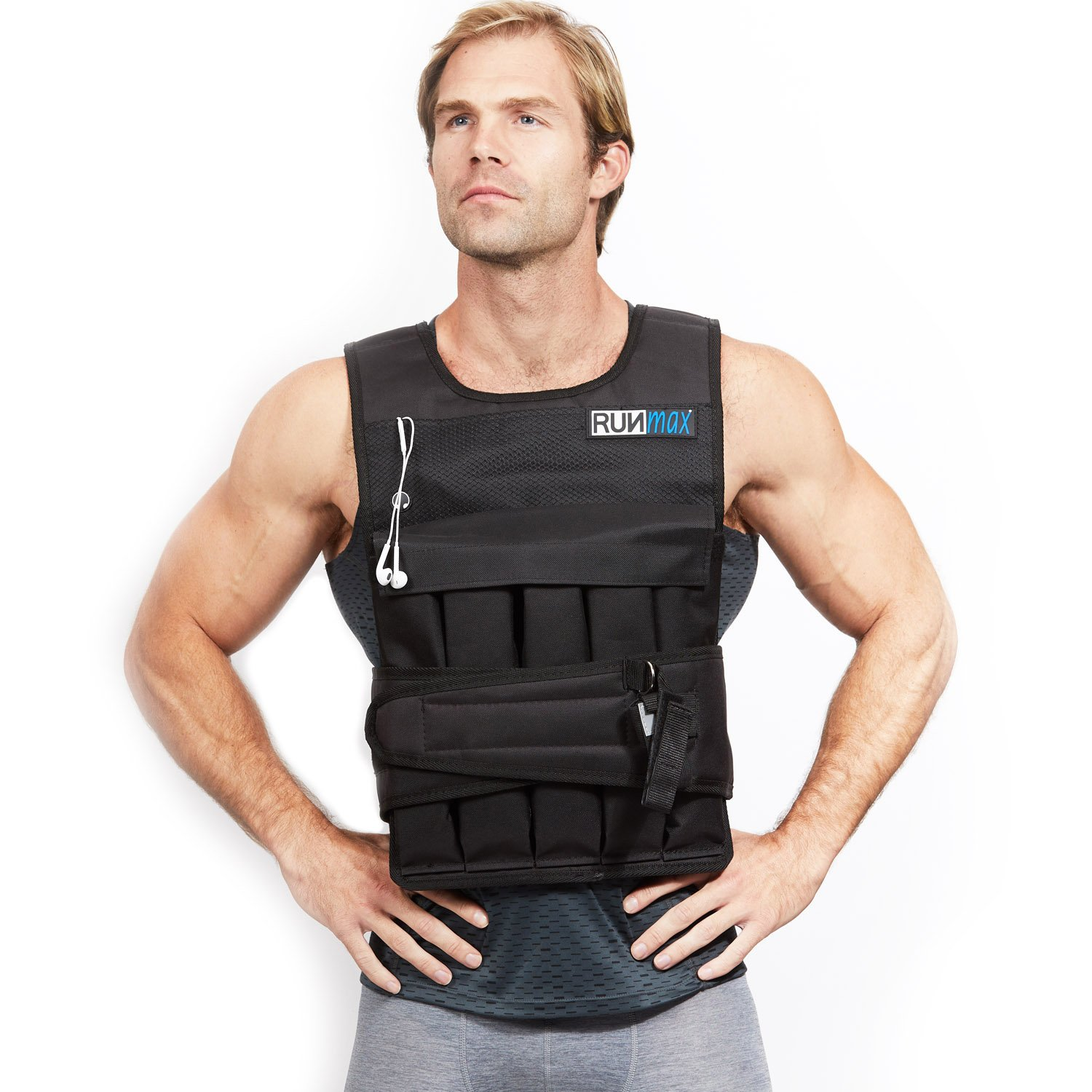 RUNFast Pro Weighted Vest 12lbs-60lbs (with Shoulder Pads, 60 LB) by RUNmax (Image #1)