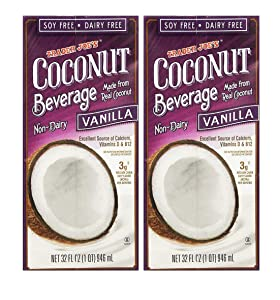Trader Joe's Non-Dairy Coconut Beverage Vanilla (2 Pack, Total of 64fl.oz)