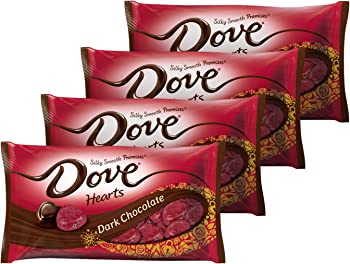4-Pack Dove Promises Valentine Dark Chocolate Candy, 8.87 Ounce