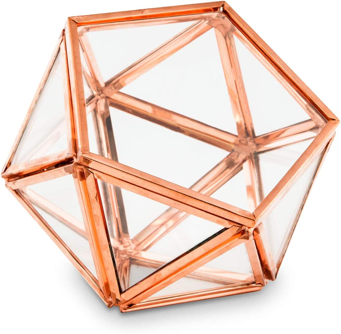 Engagement Ring Box Proposal Ring Box Mini Terrarium Copper Wedding Decor Geometric Glass Wedding Ring Bearer Box Diamond Ring Box