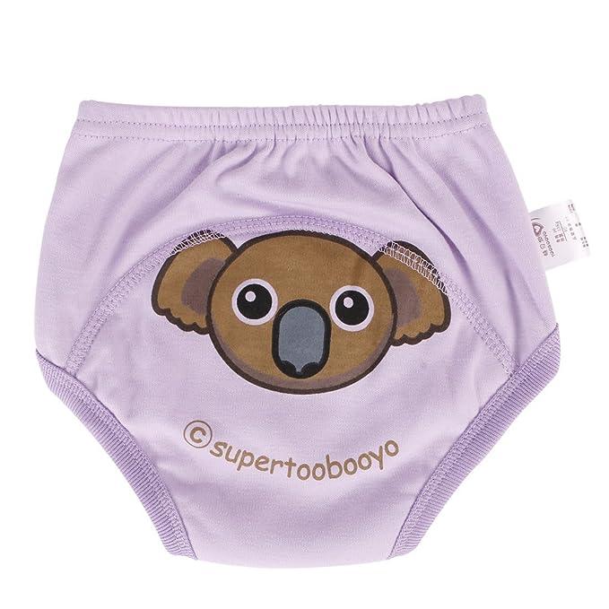 creamily® 4 Pack bebé niñas niños Cute WC pee - Pantalones de entrenamiento para el orinal Cartton reutilizable gamuza de ropa interior pañales: Amazon.es: ...