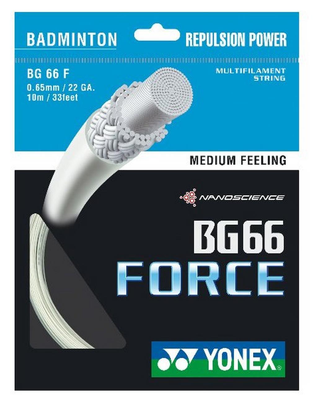 ヨネックスBG 66 Forceバドミントンストリング10 M B01F2PHAK0 イエロー