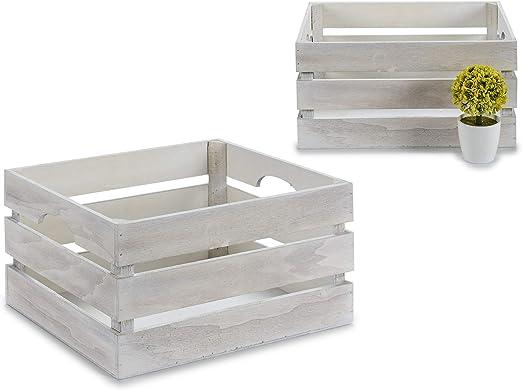 GIFTDECOR Caja Madera Blanca, 36x26x18 cm: Amazon.es: Juguetes y juegos