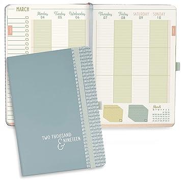 Agenda 2019 Everyday Diary de Boxclever Press. Tamaño A5. Agenda anual elegante con vista semanal. 12 meses enero a diciembre 2019. Resumen mensual, ...