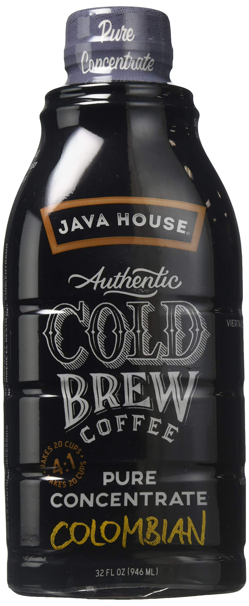 Java House Cold Brew Colombian Concentrate 32 oz (Pack of 2)