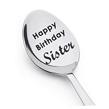 Happy Birthday Sister Spoon Engrave For Gift In Law