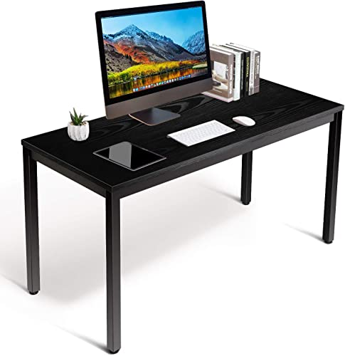 amzdeal Computer Desk 40 , Sturdy Writing Desk for Home Office, PC Laptop Notebook Study Writing Table for Home Office Workstation, Modern Black