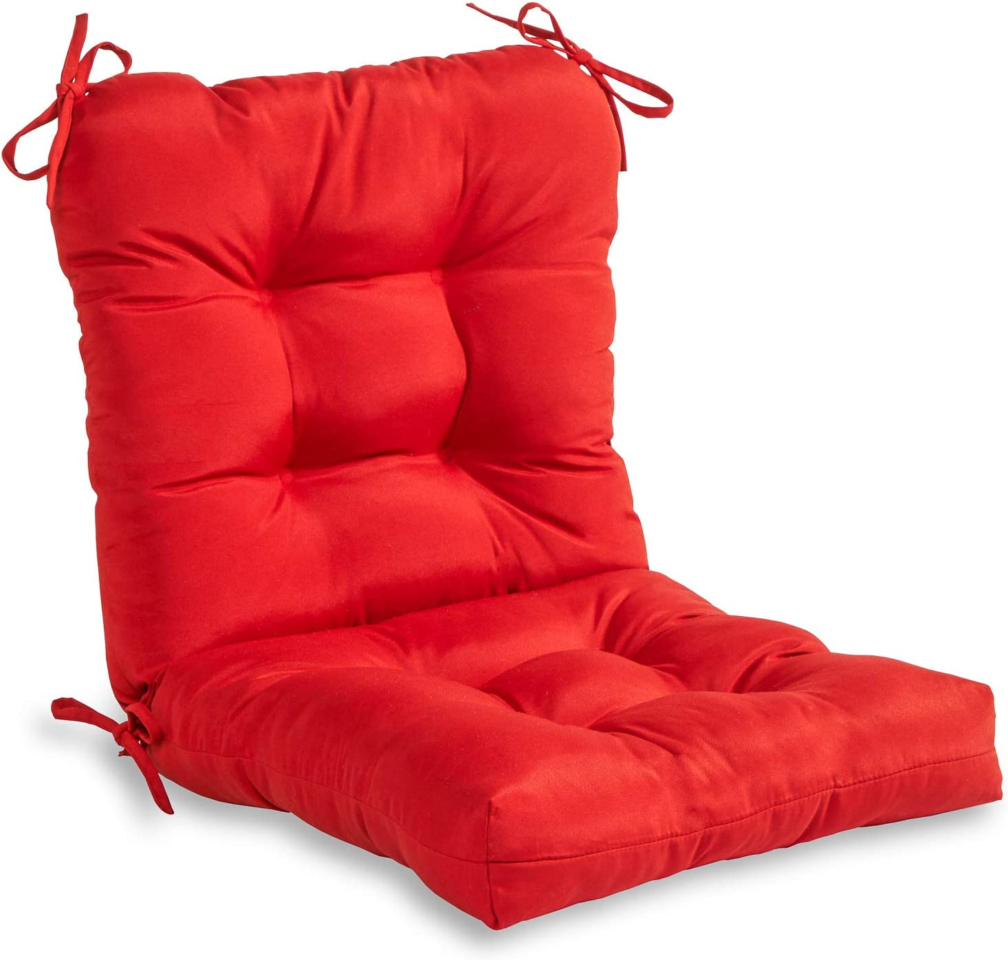 South Pine Porch AM5815-SALSA Solid Salsa Red Outdoor Seat/Back Chair Cushion